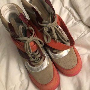 Women wedge sneakers